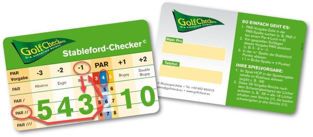 Stableford Checker schnellste Berechnung Nettopunkt und Bruttopunkte beimi Golf