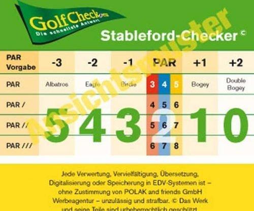 Golf Stableford Punkte rasch berechnen, Nettopunkte und Bruttopunkte