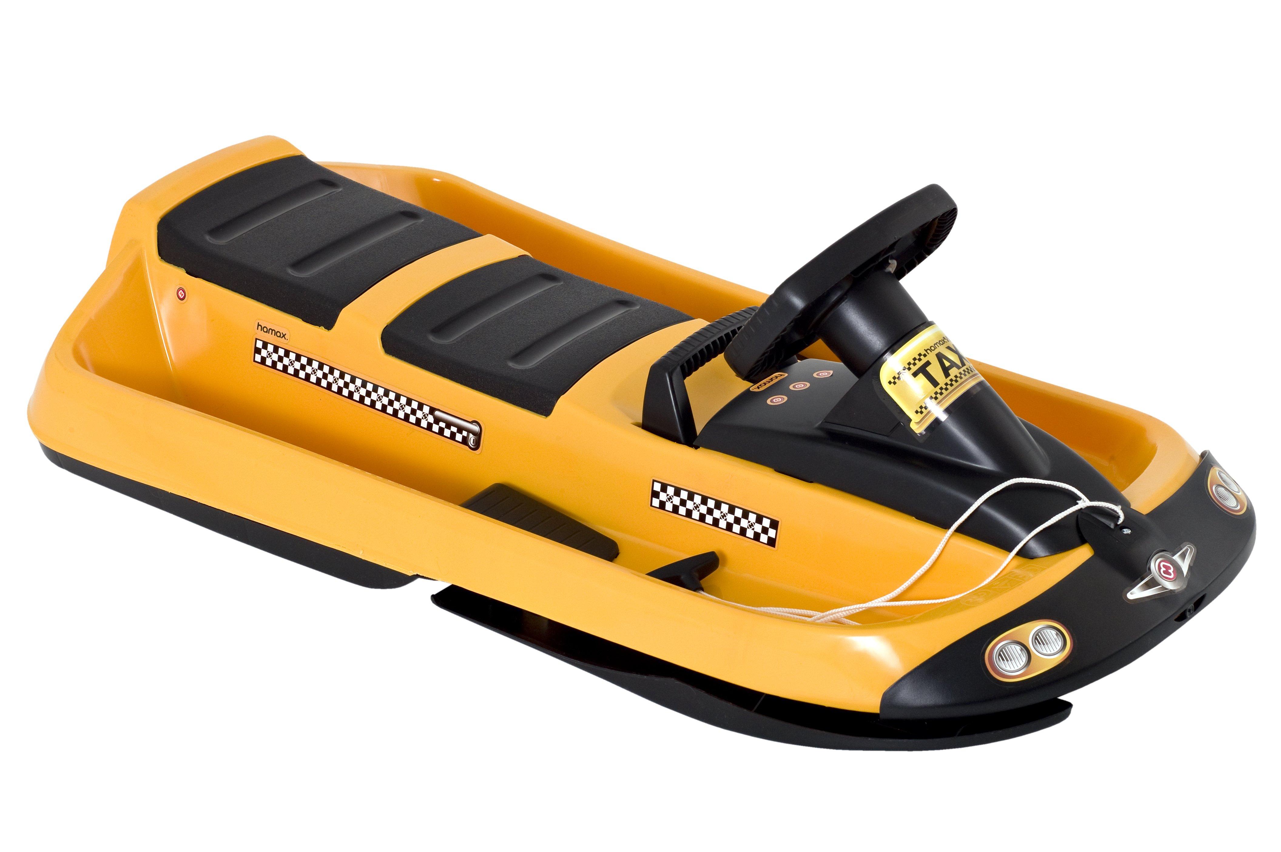 Snow Taxi Rutschbob, gelb mit Lenkrad