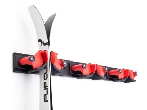 FlipClip der perfekte Skihalter für 3 Paar Ski.