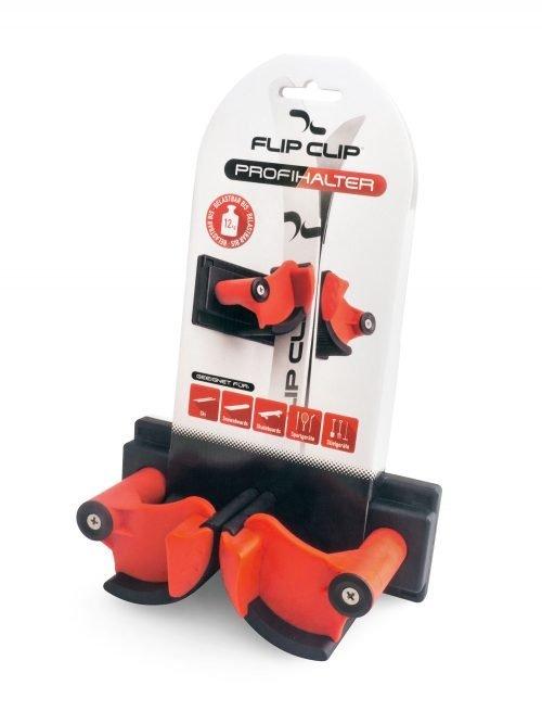 FlipClip der perfekte Skihalter. einfach zu montieren, hält die Ski bombenfest. immer Ordnung im Skikeller, für 1 Paar Ski