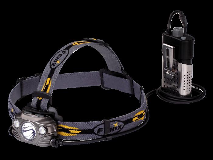 Fenix Stirnlampe hp 30r-1 Stirnlampe mit max. 1750 Lumen, 4 Helligkeitsstufen und SOS-Modus. Aus robustem Aluminium mit nur 285g. Verlängerungskabel und USB-Kabel im Lieferumfang enthalten.