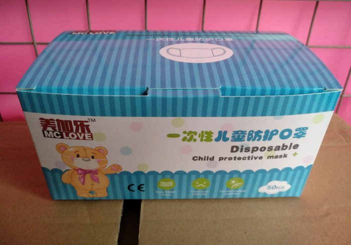 Disposable masks children cardboard 50 pcs. , Protective masks, disposible masks child protective mask, available
